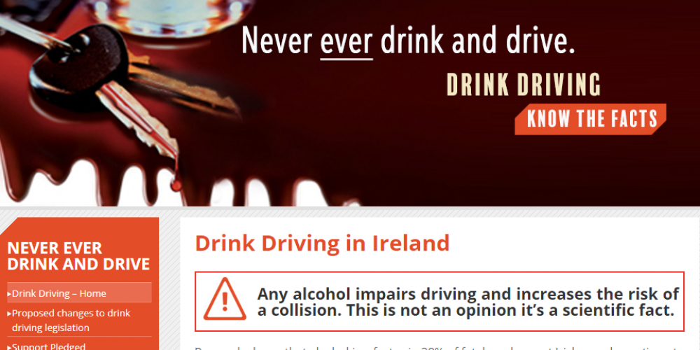 RSA launches website in support of new drink driving bill